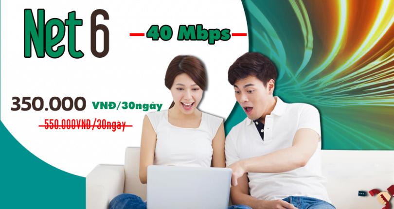 Gói Cước internet Cáp Quang Viettel Net 6 (40Mbps)