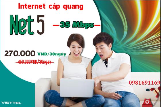 Gói Cước internet Cáp Quang Viettel Net 5 (35Mbps)