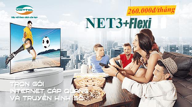 Gói Cước Combo Internet Cáp Quang Viettel  Net 3 (25Mbps)