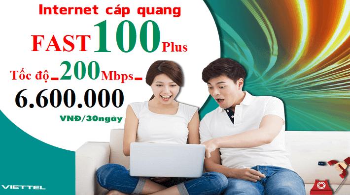 Gói Cước internet Cáp Quang Viettel FAST 100 Plus