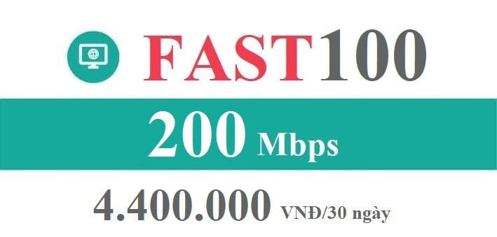 Gói Cước internet Cáp Quang Viettel FAST 100