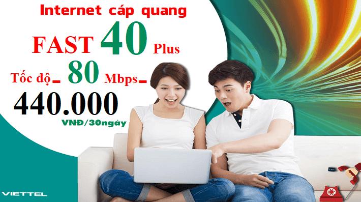 Gói Cước internet Cáp Quang Viettel FAST 40+