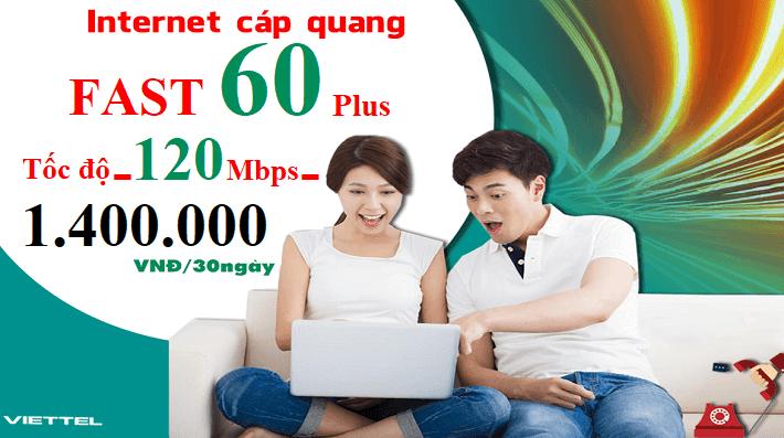 Gói Cước internet Cáp Quang Viettel FAST 60 Plus