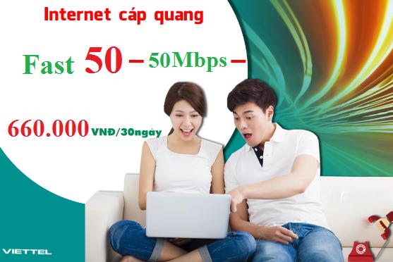Gói Cước internet Cáp Quang Viettel FAST 50 (50Mbps)