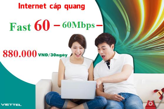 Gói Cước internet Cáp Quang Viettel FAST 60 (60Mbps)