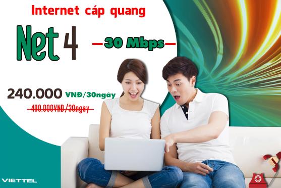 Gói Cước internet Cáp Quang Viettel Net 4 (30Mbps)