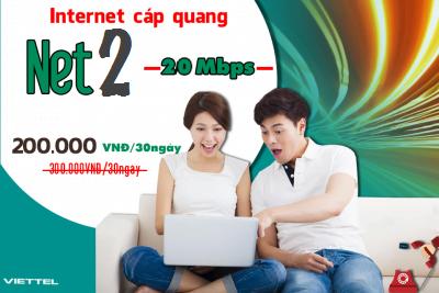 Gói Cước internet Cáp Quang Viettel Net 2 (20Mbps)