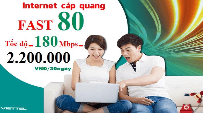 Gói Cước internet Cáp Quang Viettel FAST 80