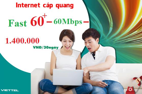 Gói Cước internet Cáp Quang Viettel FAST 60+ (60Mbps)