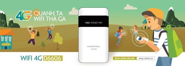 Viettel Bình Tân cung cấp thiết bị phát wifi không dây 4G