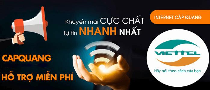 Viettel Huyện Bình Chánh Đăng ký Lắp đặt internet cáp quang viettel nhận ngay khuyến mãi