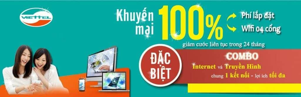 Khuyến mãi Lắp Đặt internet cáp quang Viettel TPHCM