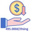 giá cước hàng tháng chỉ 495.000đ