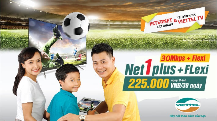 Gói Cước Net1Plus Combo Internet và truyền hình cáp viettel