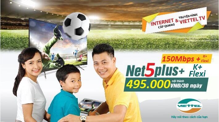 Gói Cước Net5Plus Combo Internet và truyền hình cáp viettel