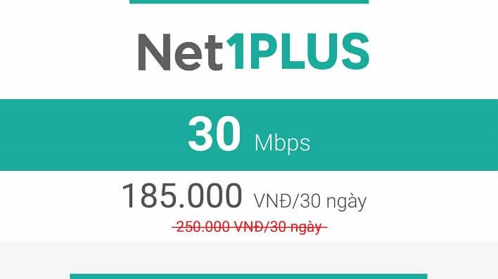 Gói Cước internet Cáp Quang Viettel NET1 PLUS