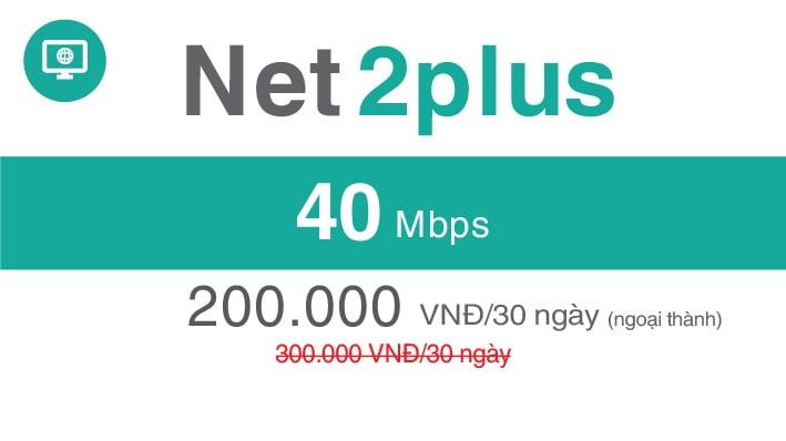 Gói Cước internet Cáp Quang Viettel NET2 PLUS (Ngọai Thành)