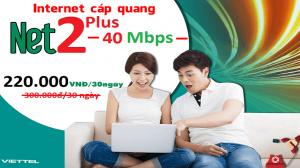 Gói Cước internet Cáp Quang Viettel NET2 PLUS (Nội Thành)