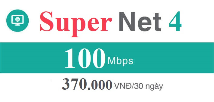Gói Cước internet Cáp Quang Viettel Super NET4 (Ngoại Thành)