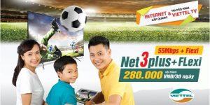 Internet Và Truyền Hình Viettel NET 3 Plus (Nội Thành)