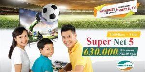 Internet Và Truyền Hình Viettel Super Net 5 (Nội Thành)